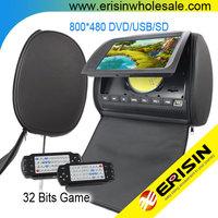 "Erisin ES997D Digital Screen 2x9"" Headrest DVD Players 8&32 bits Game USB DVD"