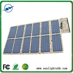 120W portable solar panel 18v battery charger for camping/outdoor use