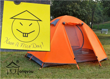 You need 2 person Outdoor Camping Tent when you leave for the outside!
