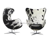 Replica Arne Jacobsen Cow Hide Leather Egg Shape Chair