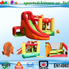 2015 hot sale inflatable combo for sale, green inflatable bouncers for kids, funny inflatable house with slide