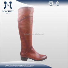 2015 Newest Cow leather over the knee high boot