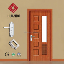 High quality wood interior glass door eco-friendly pvc coated doors for hotel