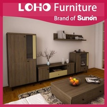 Hot Sale Living Room Furniture Wooden Cheap TV Wall Unit for Sale
