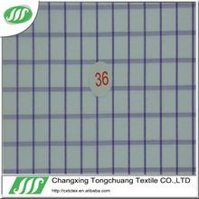 check/stripe yarn dyed tc fabric for shirts TC087