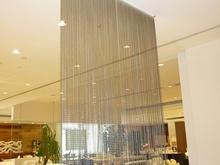Gold color chain curtain decorative hotel hall partitions