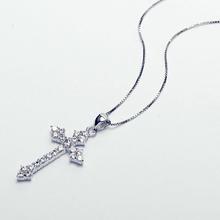 Gargantilla plata lisa cruz Para dama