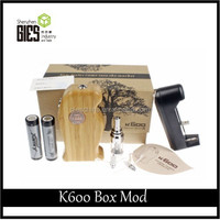 2015 Vaporizer Supplier Wooden Style K600 Mod Wood Box Mod Vs abs box mod