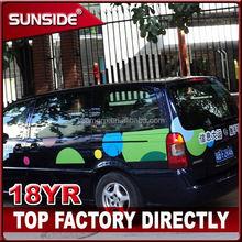 car body sticker paper/ glow in the dark car sticker/ car wrap sticker
