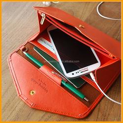 Newest Design Fashion Trendy Multifunctions Leather Wallet Women,Travel Document Passport Holder,Phone Purse