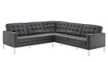 Genuine leather Florence Knoll corner sofa