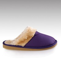 H&C-915P factory indoor outdoor nylon upper warm lining TPR sole plush slipper