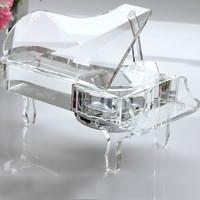Novelty Crystal Piano Music Box Wedding Gifts Wedding Favors