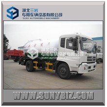 dongfeng new model euro 4 10m3 sludge truck, sludge transportation truck