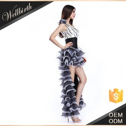 2015 summer new sexy beaded short long tail evening dress online shopping