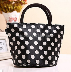2015 personalized adult polka dot neoprene lunch tote bag