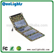 7W Folding Foldable Portable Solar Panel Mobile Phone Charger Kit Solar Camping Mobile MP3/4 Camera Charger