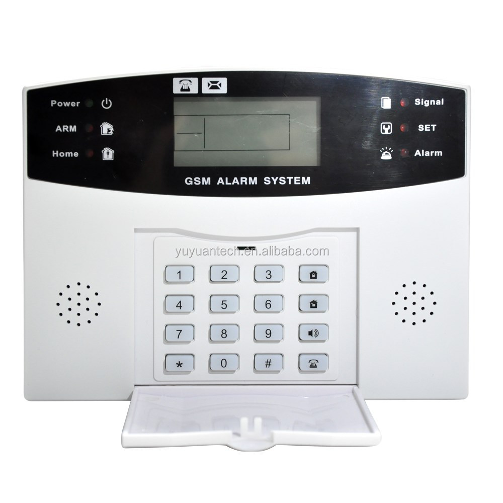 99 Guard Zones+8 Wired Zones Home Security Lcd Display Gsm Sms ...