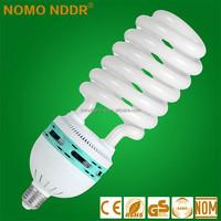 China Jinhua 14mm 75W half Spiral Energy saver Saving Light bulbs E27