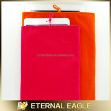 2015 New microfiber pouch for mobile phone, double drawstring eyeglass pouch, microfiber cloth with mini pouch