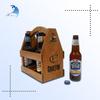 Best selling natural Solid Antique root carving wooden wine bottle holder