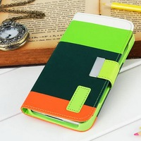 Cute wallet design mobile phone case/accessories for Samsung Galaxy S5 I9600 with chain and stand function especially for girl