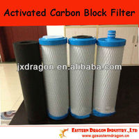 """5um/10"""" activated carbon block filter media"""
