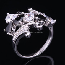 2015 gold supplier wholesales fashion jewelry ring with 925 sterling silver plated ring