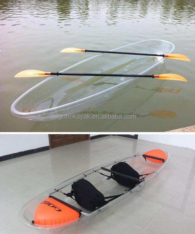double sit on clear kayak