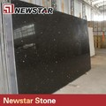 poli dalles de pierre de quartz noir pour les hauts