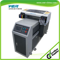 WER UV printer with free rip software a2 plastic card printing machine