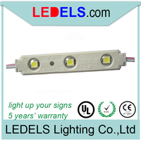 5 years warranty led module waterproof 12V rohs 5050 3 led light modules for letter channel