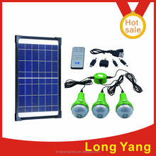 solar product solar light with battery home solar panel kit with USB and remote control