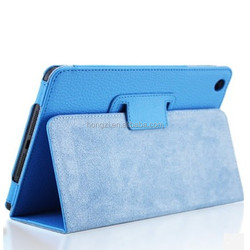Top Quality For Apple ipad 2/3/4 Magnetic Sleep Flip Matte Litchi Leather Case For new ipad Cover with Smart Stand Holder