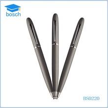 Fashion quality slide logo metal pen