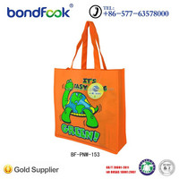 Eco friendly custom printed shopping gift non woven bag with logo print