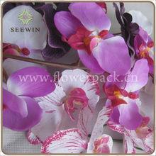Artificiais látex flores orquídeas