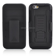 High quality kickstand mobile cover hybrid case cover shockprof phone case for iphone 6 4.7inch