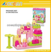 caliente 2014 36 vender piezas de plástico bloque de construcción de ilustrar a los niños juguetes de ladrillo conjunto