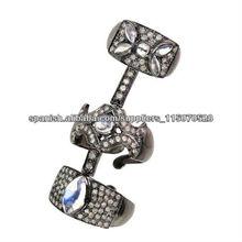 Anillo de Armadura en Plata Esterlina 925 Venta al Por Mayor de Anillos de Armadura Manufactura de Anillos con Diamantes