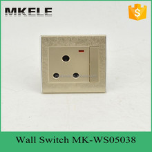 new PC flame retardant material 15A 1Gang 3 pin Switched With Neon,electrical wall socket for Italian and UK
