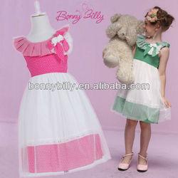 Pink, Green Round Neck Girl Dress, Girls Clothing, neck design for cotton churidars