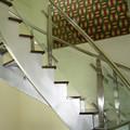 Removível projeto limpar vidro interior da escada de aço inoxidável corrimão