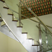 Removable Design Clear Glass Indoor Stair Stainless Steel Handrail