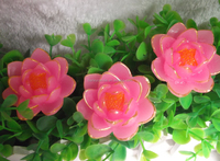 Pink Flower Shaped Candles