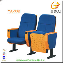 Commercial furniture public church blue color theater chair
