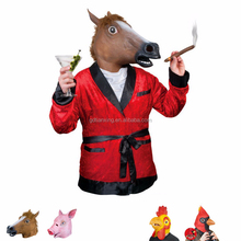 Trade Assurance Novelty Latex Rubber Creepy Horse Head Halloween Costume Mask