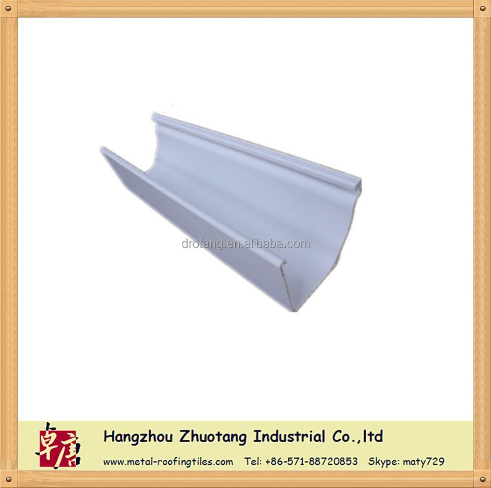 Bianco di plastica colorata 5 2 pollici 7 pollici gronda for Materiali da costruzione di casa modello