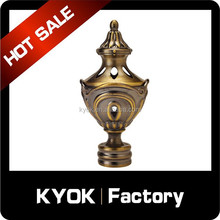 Office decorative accessories aluminum alloy curtain pole end, Euro style curtain finials 28mm, bronze finial curtain pipe