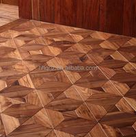 Solid classic art parquet wood black walnut flooring(Smooth)